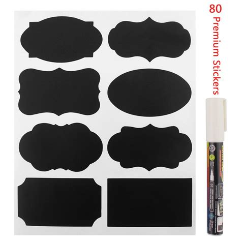 Label Stickers review of yukiss premium resuable chalkboard labels stickers