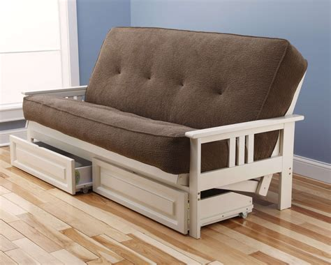 Futon With Storage Drawers by Kodiak Monterey Antique White Futon Frame With