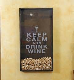 25x45 wine cork holder wall decor keep calm