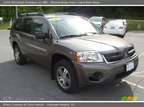 Mineral Ls For Sale by Mineral Beige Pearl 2006 Mitsubishi Endeavor Ls Awd Sand Blast Beige Interior Gtcarlot