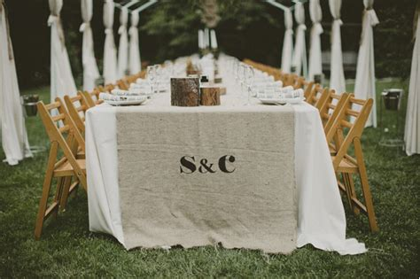 Diy Burlap Table Runner by Simple Australia Garden Wedding Once Wed