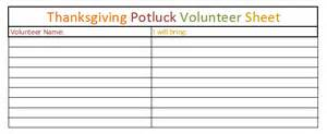 thanksgiving potluck signup sheet template printable potluck sheets new calendar template