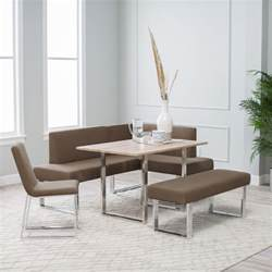 Banquette Seating With Storage Stylish Modern Small Kitchen Dining With Sectional Beige