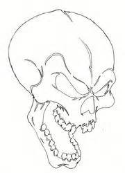 skull stencils airbrush pictures simple skull drawing