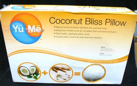 yume coconut bliss pillow 19 x 30 in