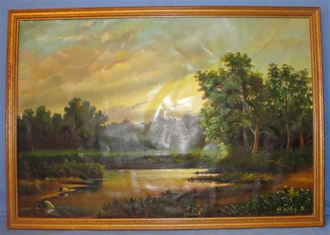 the russian canvas painting 1991 russian oil painting on canvas original frame from heirloomdolls on ruby lane