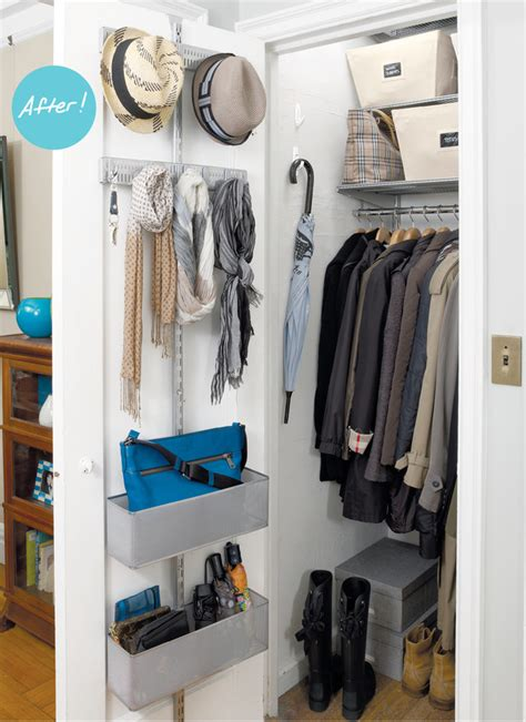 No Coat Closet Solutions by Closet Organizers A Mini Master Entry Closet Are Uncluttered In A New York Minute Container