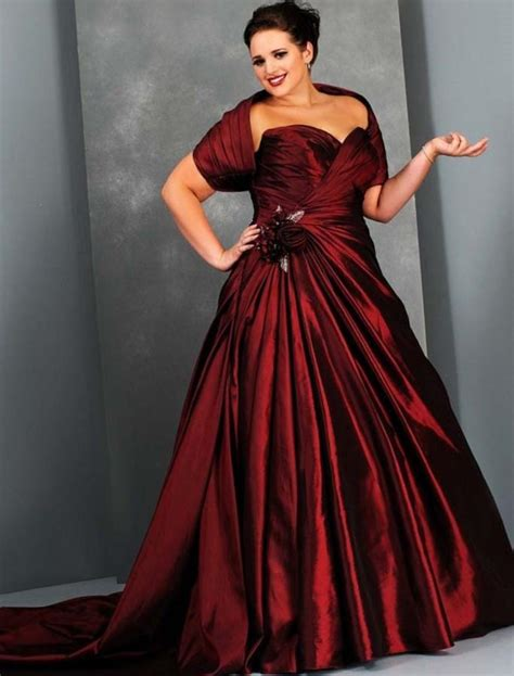 Wedding dresses plus size with color   PlusLook.eu Collection