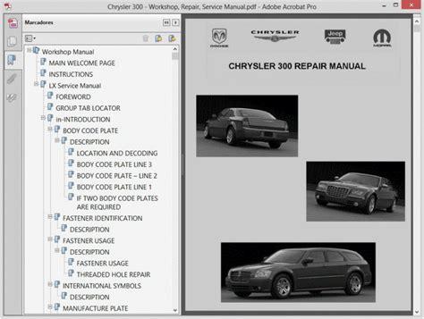 Chrysler 300 Repair Manual by Chrysler 300 Service Manual