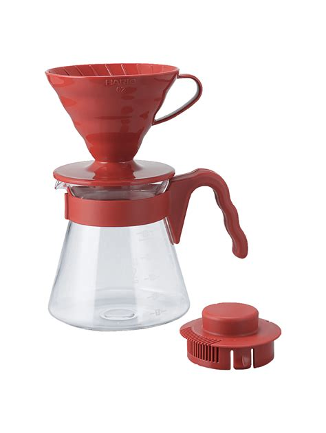 Hario V60 Plastic Dripper Size 02 Transparant hario v60 coffee dripper and pot set holmen coffee