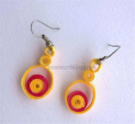 Paper Earring - quilled jewellery dissections