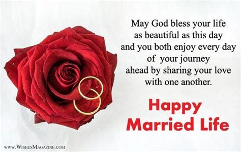 Happy Married Life Wishes   Wish You Happy Married Life
