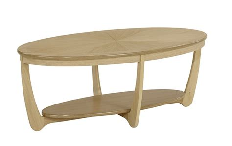 Table L Shades Nathan Shades Oak Sunburst Top Oval Coffee Table