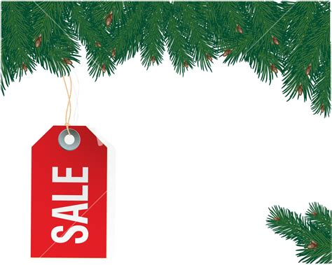 Christmas Sale Tag Vector Template Sale Tag Template