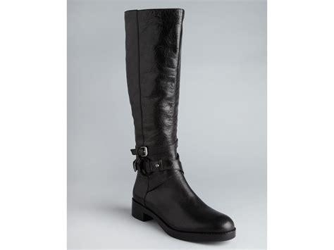 via spiga flat boots gabrielle in black tmoro