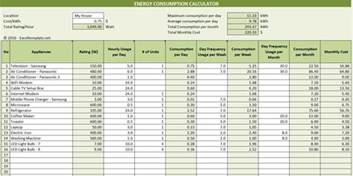 Payment Calculator Excel Template by Electricity Consumption Calculator Excel Templates