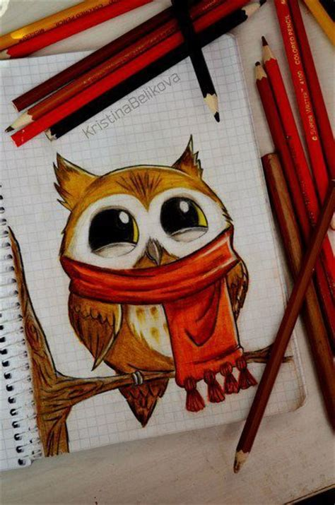 Really Owl Drawings With Color Owl Drawing Tumblr Really Cute Drawing Art Show