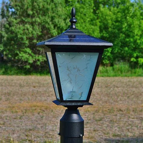 solar powered pillar lights driveway pillar solar lights images