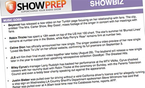 Radio Show Prep Template Showprep Service For Morning Shows And Radio Personalities Radio Iloveit