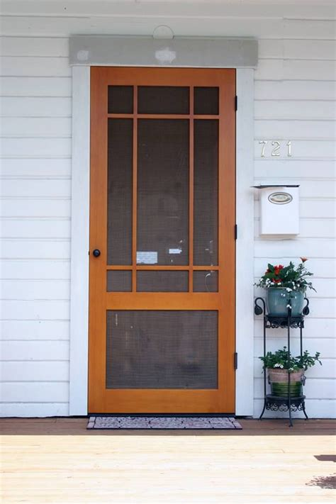 wood screen door ideas  pinterest screen