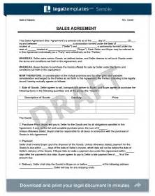Sales Contract Agreement Template by Doc 878995 Sales Agreement Sales Agreement Form Free