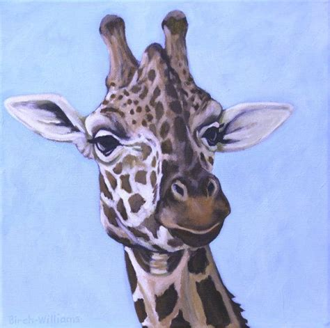 painting of zoo animals giraffe painting giraffe portrait animal