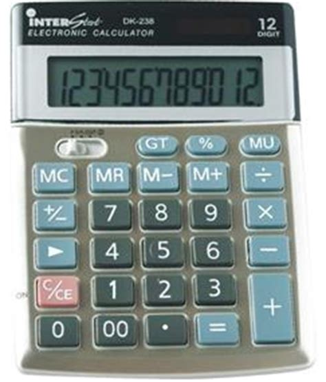 Calculator Joyko 12 Digits Standard Desktop Calculator casio dk238 12 digit desktop calculator