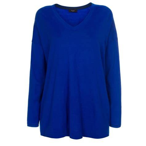 Sweater Black Blue lyst paul smith s oversized blue merino wool