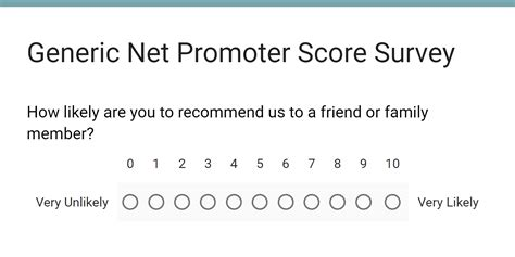 net promoter score survey template designing a customer satisfaction survey net promoter