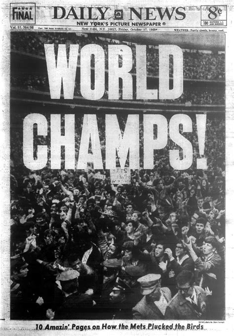 Mets rally past Orioles in Game 5 to win 1969 World Series