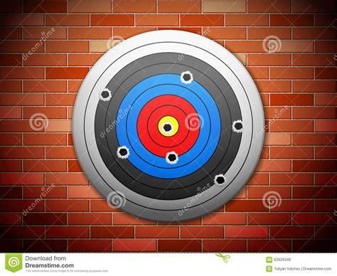 Target Wall L by Target Brick Wall Stock Vector Image 62626346