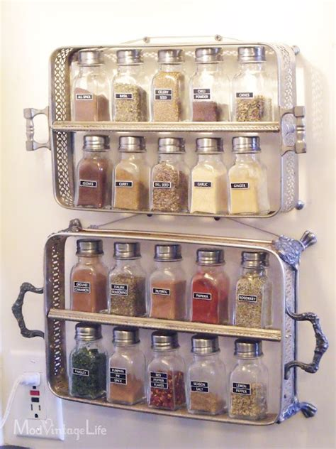Pantry Door Mounted Spice Rack by Craftionary