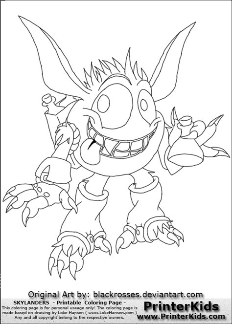 skylanders pop fizz free coloring pages