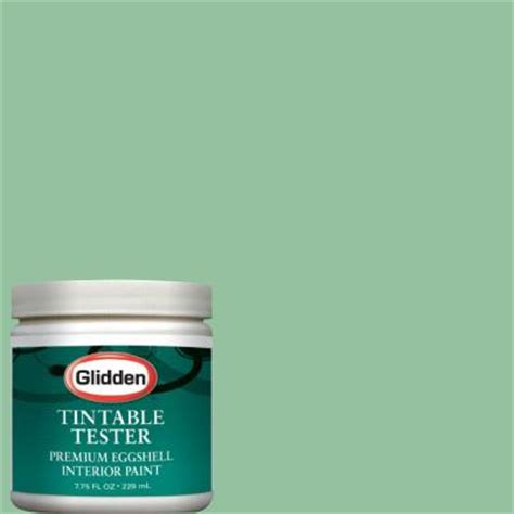 glidden premium 8 oz sea glass green interior paint tester glg25 d8 the home depot