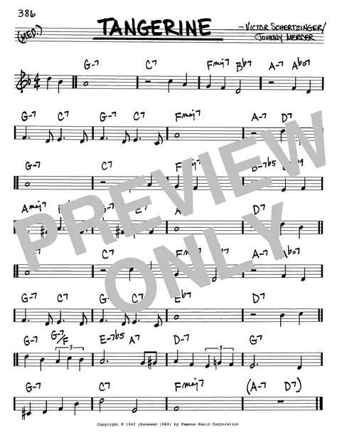Tangerine Sheet Music | Johnny Mercer | Real Book – Melody
