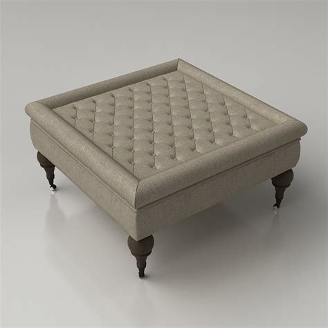 restoration hardware ottoman coffee table 3d restoration hardware tufted coffee ottoman high