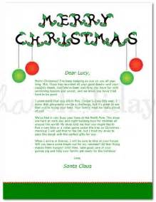 Merry Letter Template by Printable Merry Santa Letter Template
