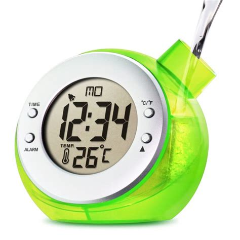Rotating Water Powered Multifunction Clock by Water Powered Multi Function Digital Desk Clock Kettle