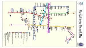 Mumbai Metro Map by Mumbai Metro Full Map Of Metro Railway Station Free