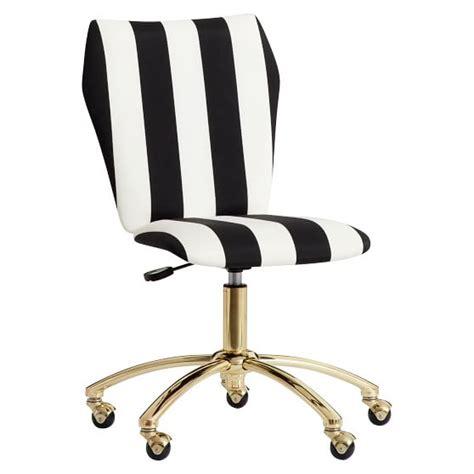The Emily Meritt Stripe Airgo Chair Pbteen Black And White Desk Chair