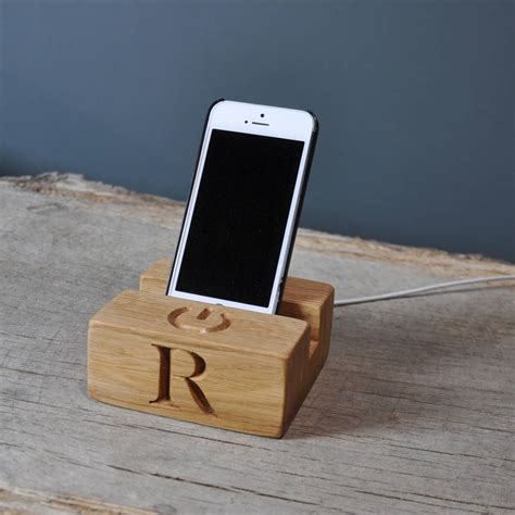 charging stands phone charging stand dock by the oak rope company notonthehighstreet com