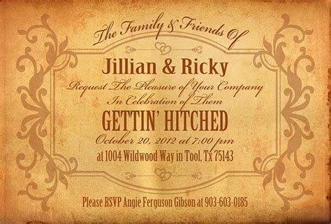 western themed wedding invitations on behance