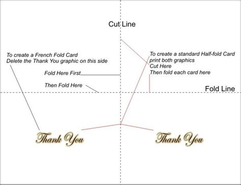 1 4 fold card template word free printable thank you cards 5