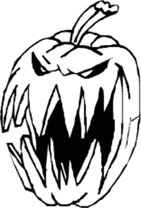 spooky pumpkin coloring pages scary pumpkin clipart black and white clipartxtras