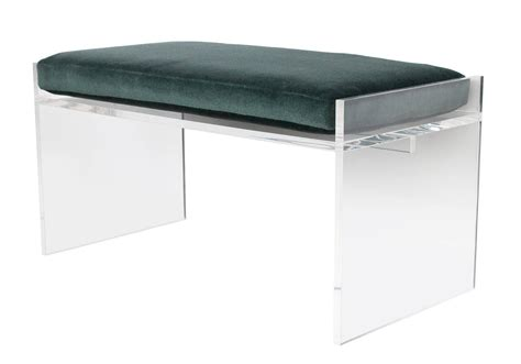 lucite bench modern lucite bench with mohair cushion at 1stdibs