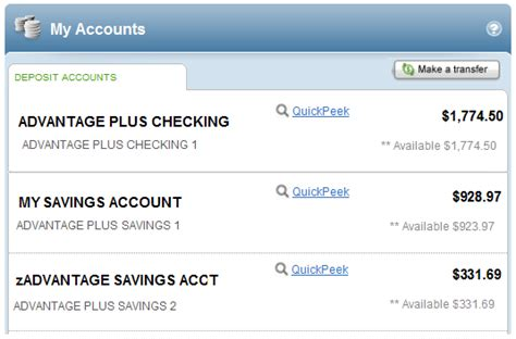 Online Banking Home Page My Online Account