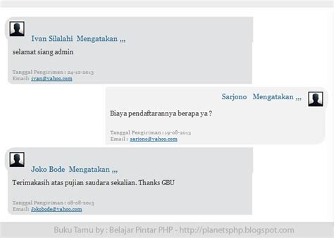 buku membuat website dengan php download source code buku tamu website cantik dengan php
