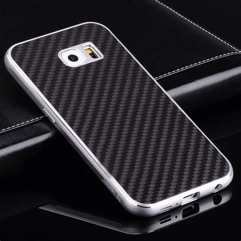 Carbon Black Samsung S6 for samsung galaxy s8 plus s7 luxury metal bumper carbon
