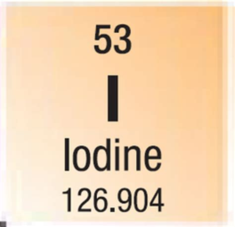 iodine number of protons atomic facts iodine element project