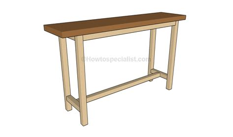 How To Build A Console Table Howtospecialist How To Build Sofa Table